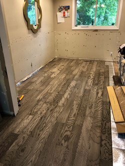 Middle of Floor Installation