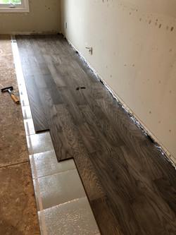 Laying of Floor Panels