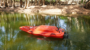 Gauging with remote controlled Q Boat