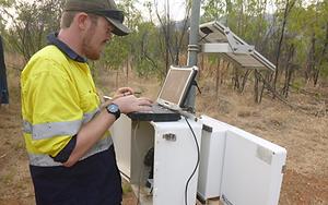 Waste facility moisture monitoring