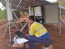 Solar pumping and monitoring station