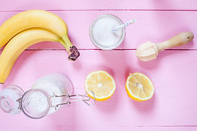香蕉和檸檬冰沙