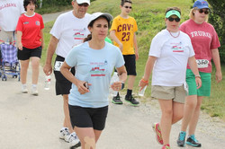 Runners sporting their event tees