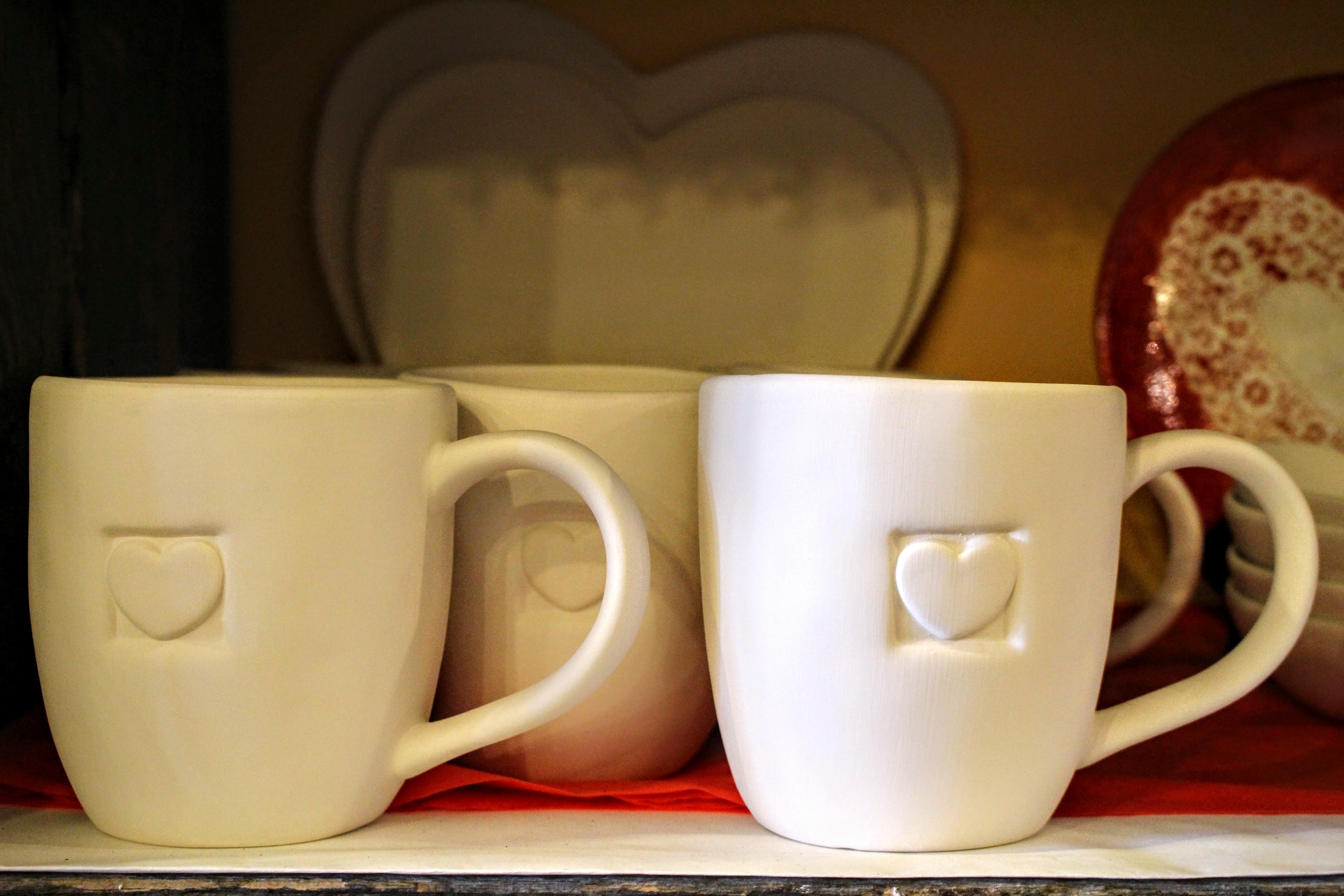 Heart mugs