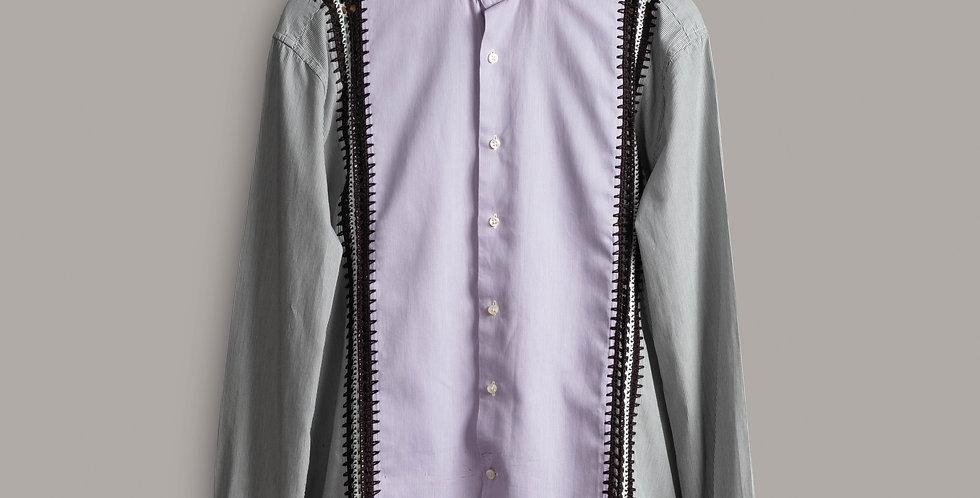Grey Purple Warsaw Shirt
