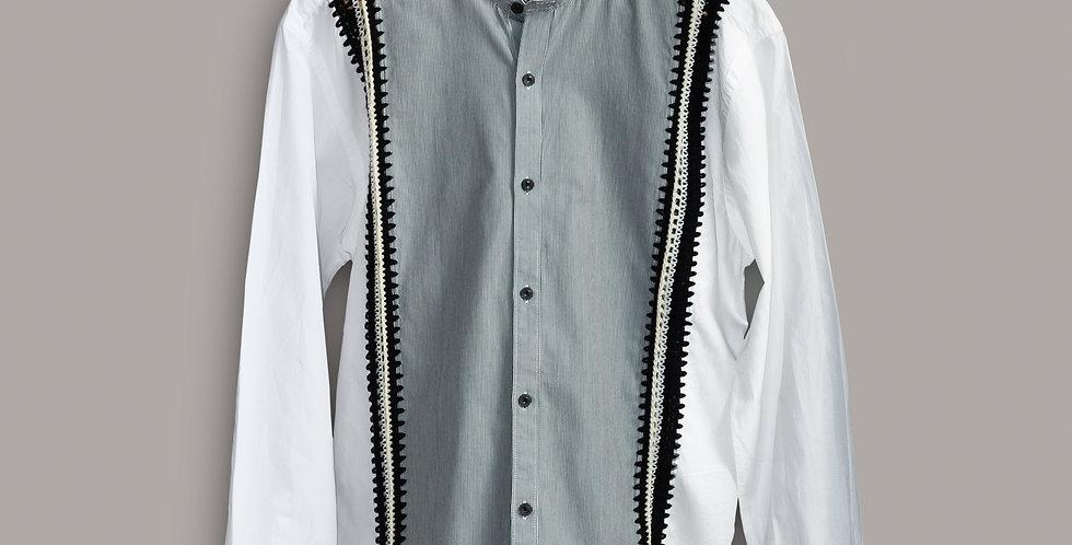 Grey & White Warsaw Shirt