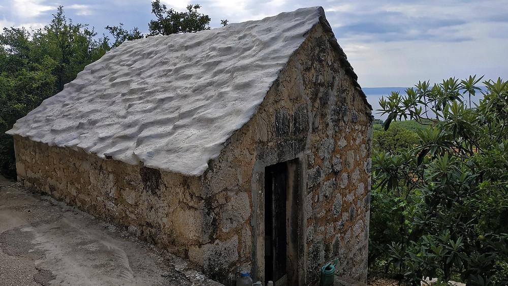 Old house in Kotisina near Makarska in Croatia