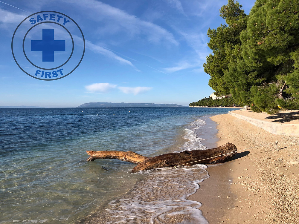 Beautiful beach for your vacation in Makarska Riviera, Croatia.
