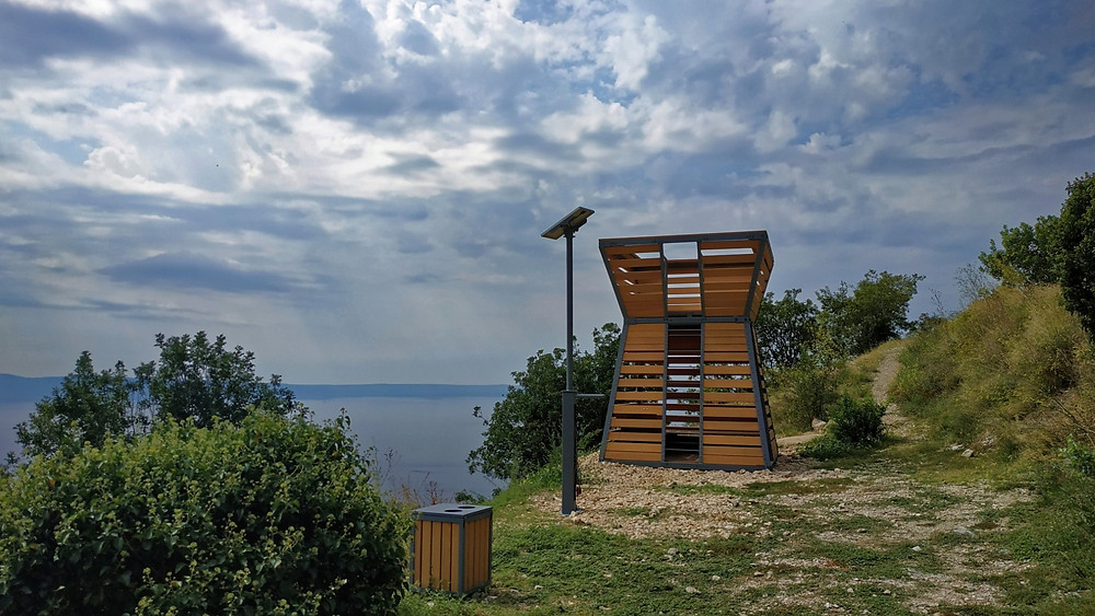 resting spot for cyclists and hikers in Kotisina near Makarska in Croatia