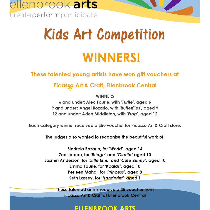 art comp - winners poster