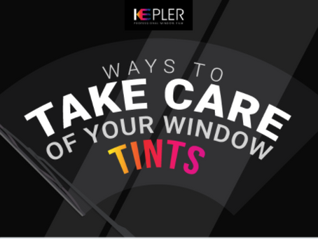 Ways to take care of your window tints