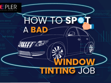 How to spot a bad window tinting job [Infographic]