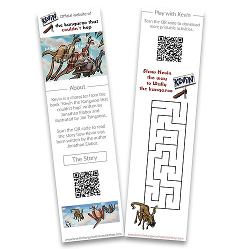 FREE Kevin Bookmark in English - when you buy a paper book