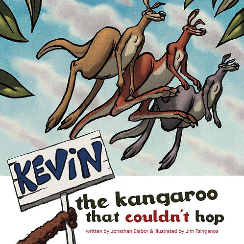 SIGNED BY THE AUTHOR Kevin the kangaroo that couldn't hop -Paper book