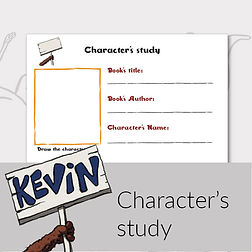 Printable activities for kids character's study