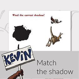 Printable activities for kids match the shadow