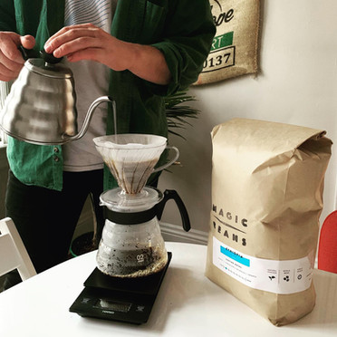A Cup of Common Wealth Coffee Brewing