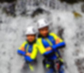 canyoning children spain pyrenees
