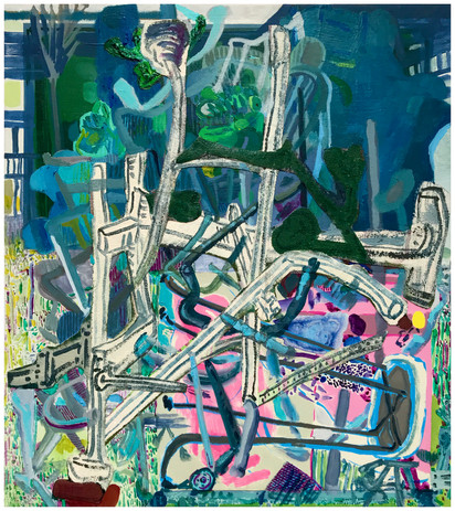 Chairs Acrylic and Collage on Canvas 18_x16_ 2020.jpg
