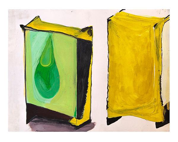 Maria de los Angeles_Pollito_2019_ watercolor, acrylic, and graphite on paper_ 15x11inches