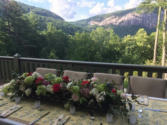 This view! Loved infusing the beautiful tablescape.