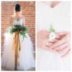 Unique Greenery Bridal Bouquet and Flower Ringlet at The Standard