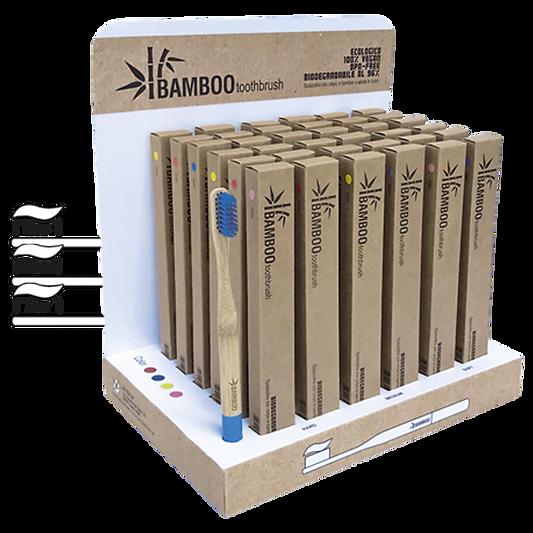 Espositore Bamboo Thoothbrush - Spazzolino Bamboo biodegradabile