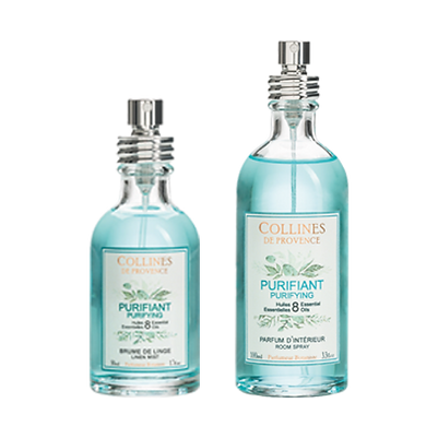 Collines de Provence - Purifiant Spray per tessuti 50 ml e Spray per ambiente 100 ml