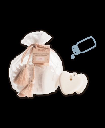 Collines de Provence -  Segreti dell'Armadio Sacchetti con Ceramiche Profumate 5 pz