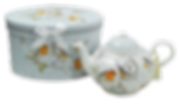 Teiera in porcellana Pettirosso