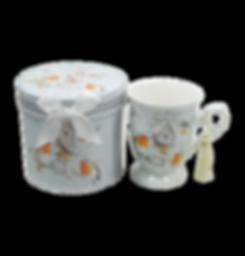 Tazza in porcellana Pettirosso