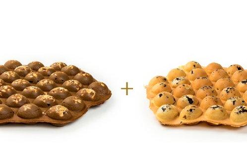 Peanutbutter Chocolate Waffle +Brownies Waffle