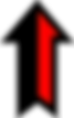 Black and Red Up Arrow