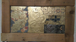 sample gilded gesso panel