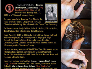 George Washington Groundhog: One Of The Original WWII Code Talkers (Inventors Of Native Coding) ; Gr
