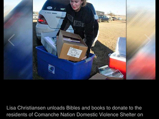 Bibles, Inspirational Books Go To Victims Of Domestic Violence