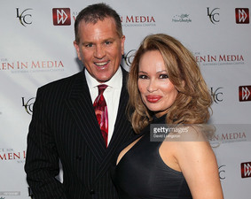 Lisa Christiansen with James VanAllen Bickford IV on Getty Images