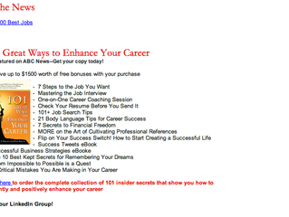 In the News: 101 Great Ways to Enhance Your Career, As featured on ABC News