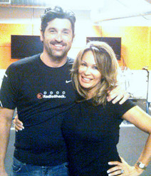 Patrick Dempsey with Lisa Christiansen in Austin for a Benefit Bicycle Ride
