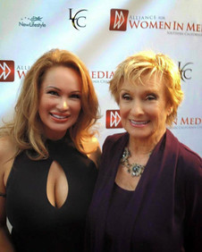 Lisa Christiansen with Cloris Leachman on Getty Images