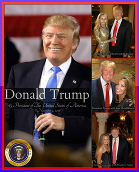 President Donald Trump and Lisa Christiansen
