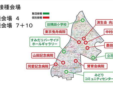【計画決定!】墨田区のコロナワクチン集団接種は5月10日から!