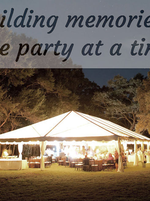Party tent, canopy, wedding