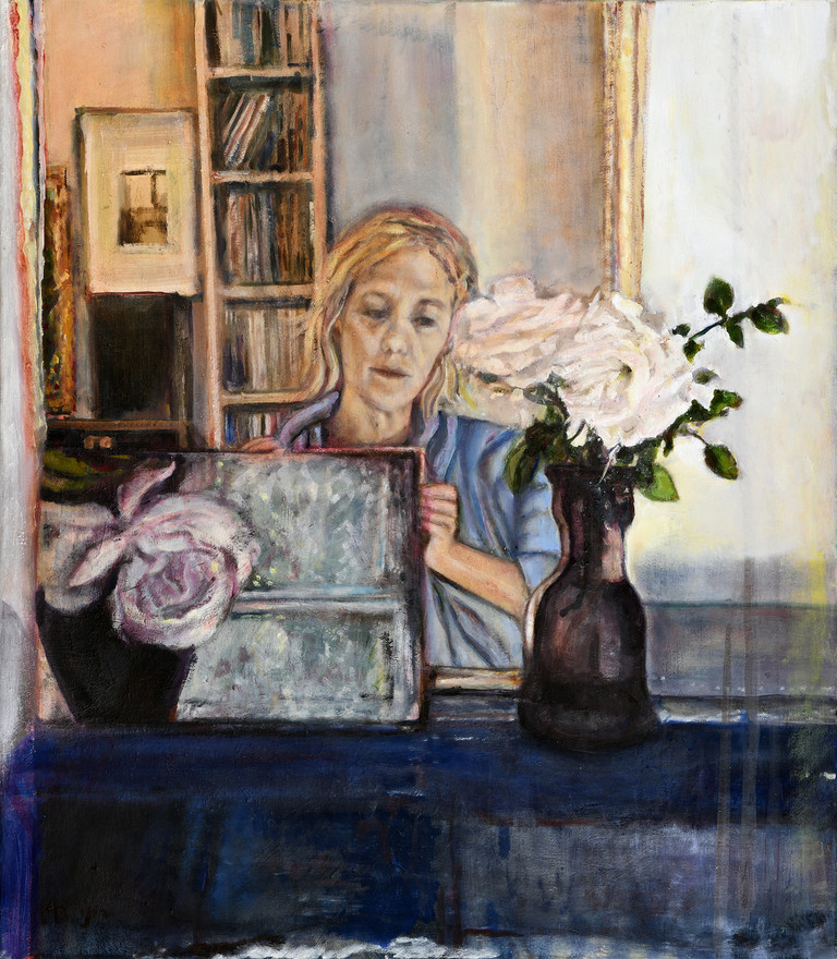 Self portrait with a rose
