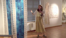 Chana Cromer and Riva Pinskey Awadish at the exhibit in Laupheim Museum, July 2021