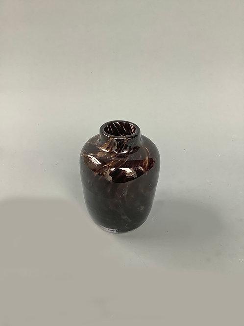 Leopard Bottleneck Squat Vase