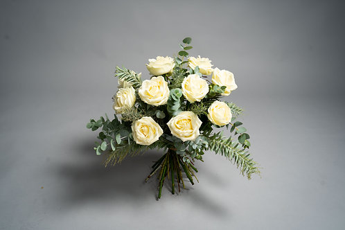 White Avalanche Rose Bouquet