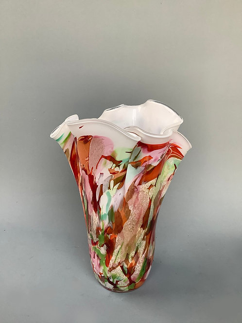 Frilly Fluted Vase