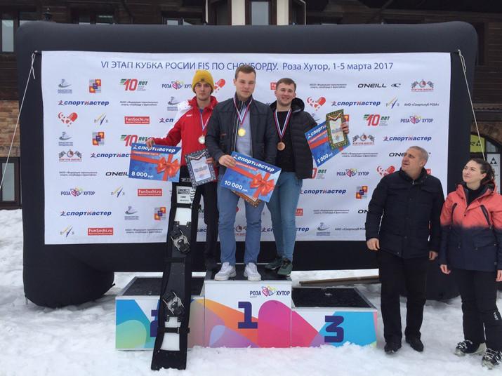 """В ГК """"Роза Хутор"""" завершился шестой этап Кубка России по сноуборду в параллельных дисципли"""