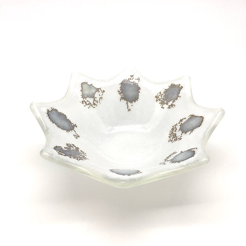 Sand Flakes Star Dish (White)